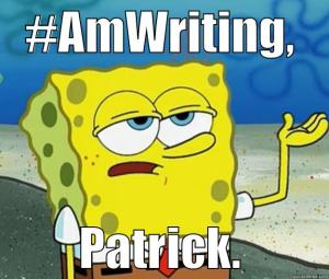 spongebob_amwriting_quickmeme_byGeneO